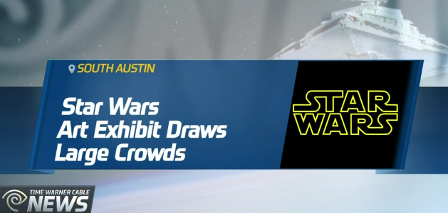 A south Austin gallery exhibit features original Star Wars-themed artwork. The intergalactic art is inspired by the box office-busting movie franchise.