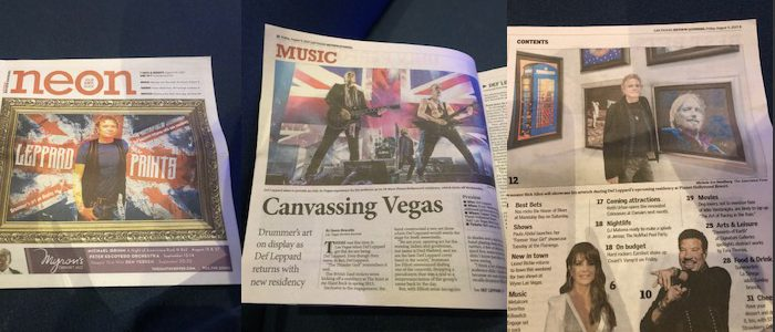 RELEVANT SECURES COVER OF NEON: ENTERTAINMENT SECTION OF THE LAS VEGAS REVIEW JOURNAL IN SUPPORT OF DEF LEPPARD'S PLANET HOLLYWOOD LAS VEGAS RESIDENCY