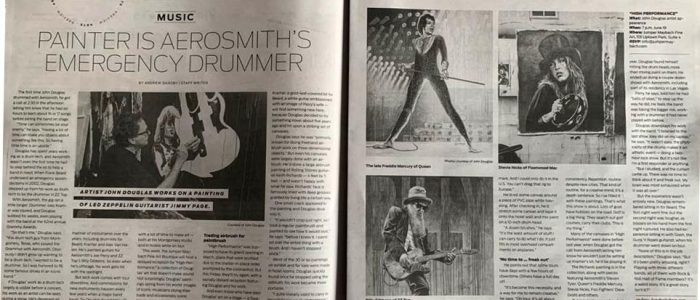 Relevant Secures Two-page Spread In The Houston Chronicle For Drummer And Rock And Roll Fine Artist John Douglas